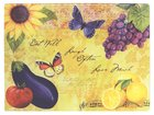 Bella Vita Collection: Glass Cutting Board, Sunflower, Grapes, Lemons Homeware