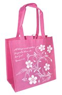 Eco Totes: All Things Work Together For Good, Pink With Dark Pink Sides (Romans 8:28) Soft Goods