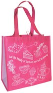 Reusable Shopping Bag: Let the Beauty of the Lord (Pink With Lavender Sides) Soft Goods
