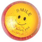 Water Ball Bouncy Ball With Red Glitter: Jesus Loves You, 6.5cm Novelty