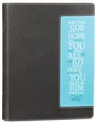 NIV Beautiful Word Bible Chocolate/Turquoise (Black Letter Edition)