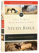 NIV Cultural Backgrounds Study Bible (Red Letter Edition) Hardback