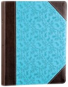 NIV Single-Column Journaling Bible Chocolate/Turquoise Imitation Leather
