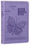 NIRV Kids' Devotional Bible Lavender Butterfly (Black Letter Edition) Premium Imitation Leather