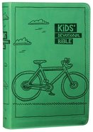 NIRV Kids' Devotional Bible Green Bicycle (Black Letter Edition) Premium Imitation Leather