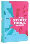 NKJV Study Bible For Kids Pink/Teal Cover