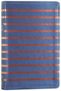 NKJV Gift Bible Blue/Orange Stripe (Red Letter Edition) Premium Imitation Leather