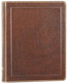 NKJV Holy Bible Journal Brown Leathersoft (Red Letter Edition) Imitation Leather