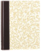 NKJV Holy Bible Journal Brown/Cream Leathersoft (Red Letter Edition)