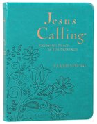 Jesus Calling Large Deluxe Edition Teal Imitation Leather