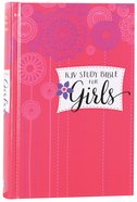 KJV Study Bible For Girls Hardcover Pink/Flowers (Red Letter Edition) Hardback