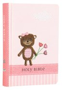 ICB Baby Bear Bible Pink Stripe With Bear (Black Letter Edition) Hardback