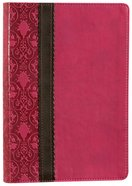 NLT Slimline Reference Bible Rich Raspberry/Chocolate (Red Letter Edition) Imitation Leather