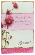 Journal: May the Lord Bless You and Protect You Pink Flowers (Numbers 6:24) Flexi Back