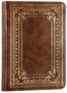 ESV Large Print Compact Bible Trutone Classic Frame Design Brown Imitation Leather