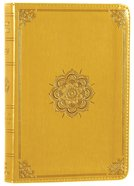 ESV Large Print Compact Bible Trutone Goldenrod Emblem Design Imitation Leather