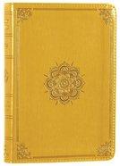 ESV Large Print Compact Bible Trutone Goldenrod Emblem Design Imitation Leather