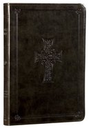 ESV Large Print Value Thinline Bible Olive Celtic Cross (Black Letter Edition)