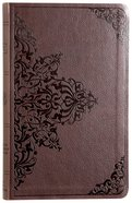 ESV Premium Gift Bible Chestnut Filigree Design (Red Letter Edition) Imitation Leather
