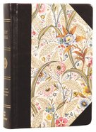 ESV Large Print Compact Bible Summer Garden Red Letter Edition Hardback