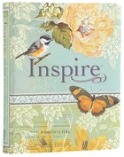 NLT Inspire Creative Journaling Bible Blue/Cream
