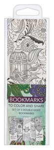 Adult Coloring Double Sided Bookmarks Set of 5: Includes Scripture, Green