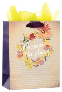 Gift Bag Medium: I Know the Plans (Colored Wreath)
