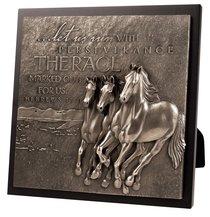 Moments of Faith Sculpture Plaque: Running Horses, Hebrews 12:1