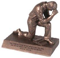 Moments of Faith Prayer Sculpture: Praying Man (Psalm 145:18)
