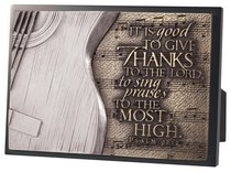 Moments of Faith Sculpture Plaque: Guitar, It is Good to Give Thanks to the Lord, Psalm 92:1