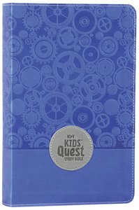 NIRV Kids Quest Study Bible Blue (Black Letter Edition)
