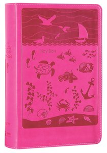 NIRV Study Bible For Kids Pink Ocean Duo Tone