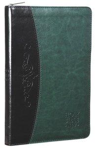 NIV Thinline Deluxe Bible Green Grey With Zip