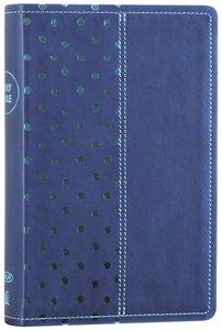 NKJV Gift Bible Navy/Turquoise Polka Dot (Red Letter Edition)