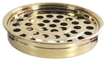 Communion Tray and Disc: Brass