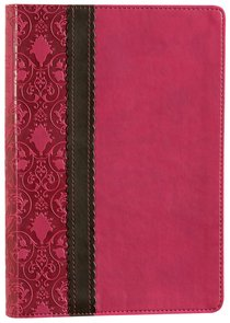 NLT Slimline Reference Bible Rich Raspberry/Chocolate (Red Letter Edition)