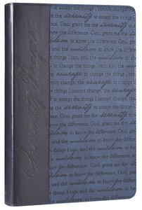 Classic Journal: Serenity Prayer Blue Luxleather