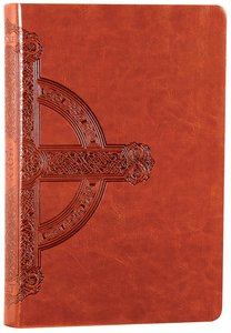 NLT Premium Value Large Print Slimline Bible Sienna Cross Leatherlike (Black Letter Edition)