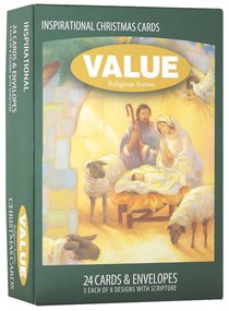 Christmas Value Boxed Cards a: Religious Scenes With Scripture