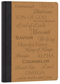 Italian Faux Leather Journal: Names of Jesus