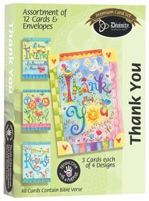 Boxed Cards Thank You: Bright Colors
