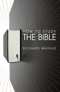 How to Study the Bible Paperback