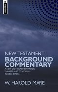New Testament Background Commentary Hardback