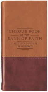 Cheque Book of the Bank of Faith (Tan/Burgundy) (Christian Heritage Series)