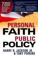 Personal Faith, Public Policy Hardback