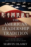 The American Leadership Tradition Paperback