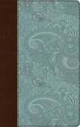 ESV Ultrathin Bible Trutone Chocolate/Blue Garden Design (Black Letter Edition) Imitation Leather