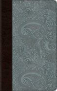 ESV Thinline Bible Chocolate/Blue Garden Design (Red Letter Edition) Imitation Leather