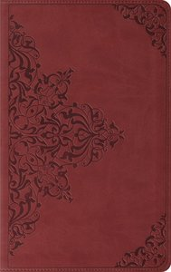 ESV Thinline Trutone Nutmeg Filigree Design (Red Letter Edition)