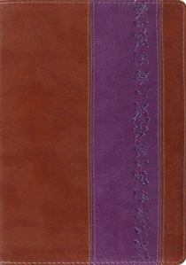 ESV Study Brown/Purple Iris Design (Black Letter Edition)